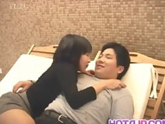 Blowjob Big Cock Japanese MILF Sucking Threesome