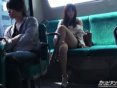 Blowjob Bus Cougar Mature MILF Public