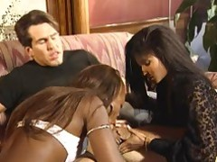 Anal Chick Ebony Interracial Threesome