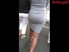 Amateur Ass Babe Brunette Dress Flexible